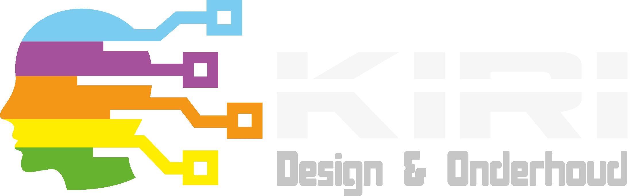 Logo Kiri Design & Onderhoud donkere ondergrond
